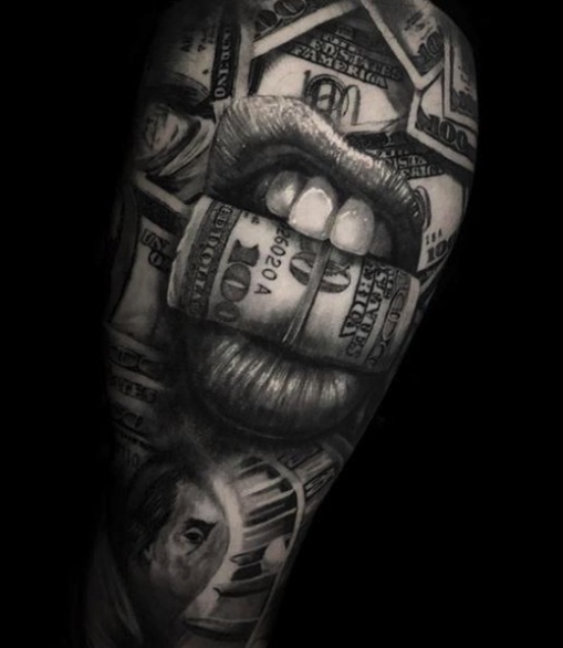 Tattoo sleeve dollar